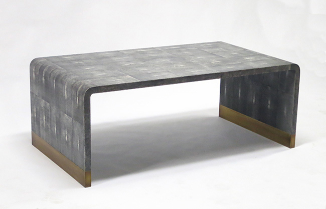 shagreen coffee table atelier viollet