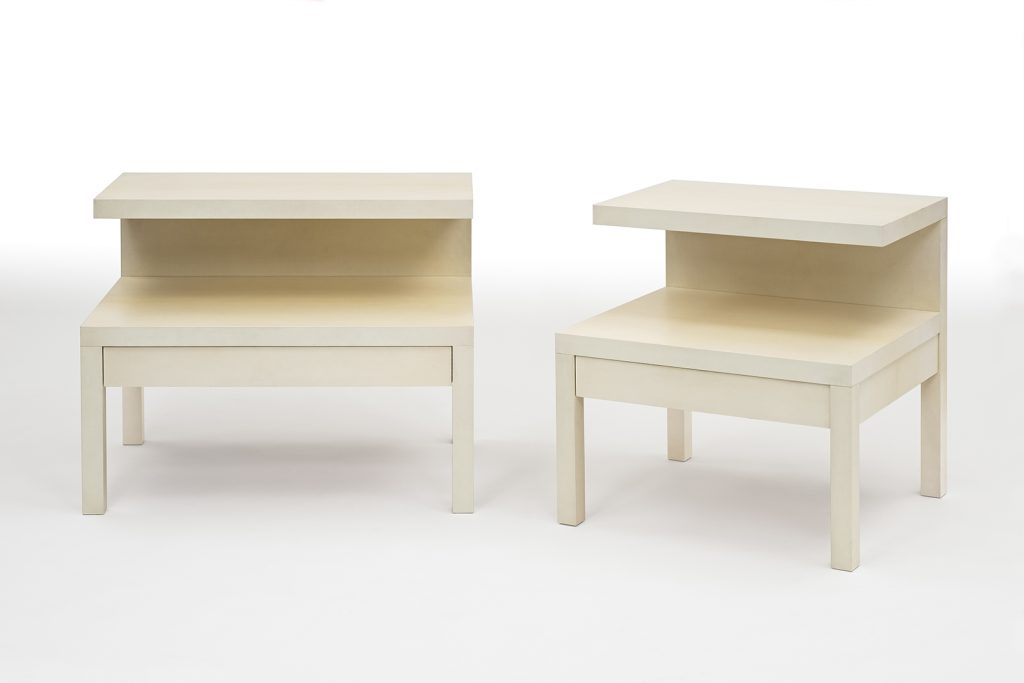Bedside Tables in Parchment