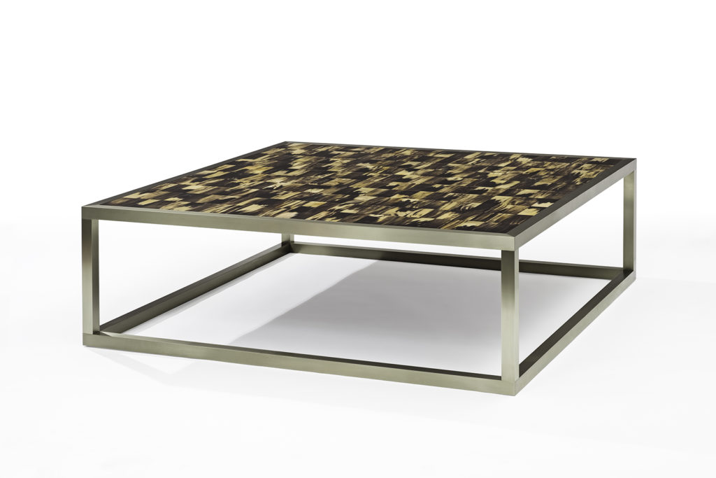 Coffee Table in Horn & German Silver