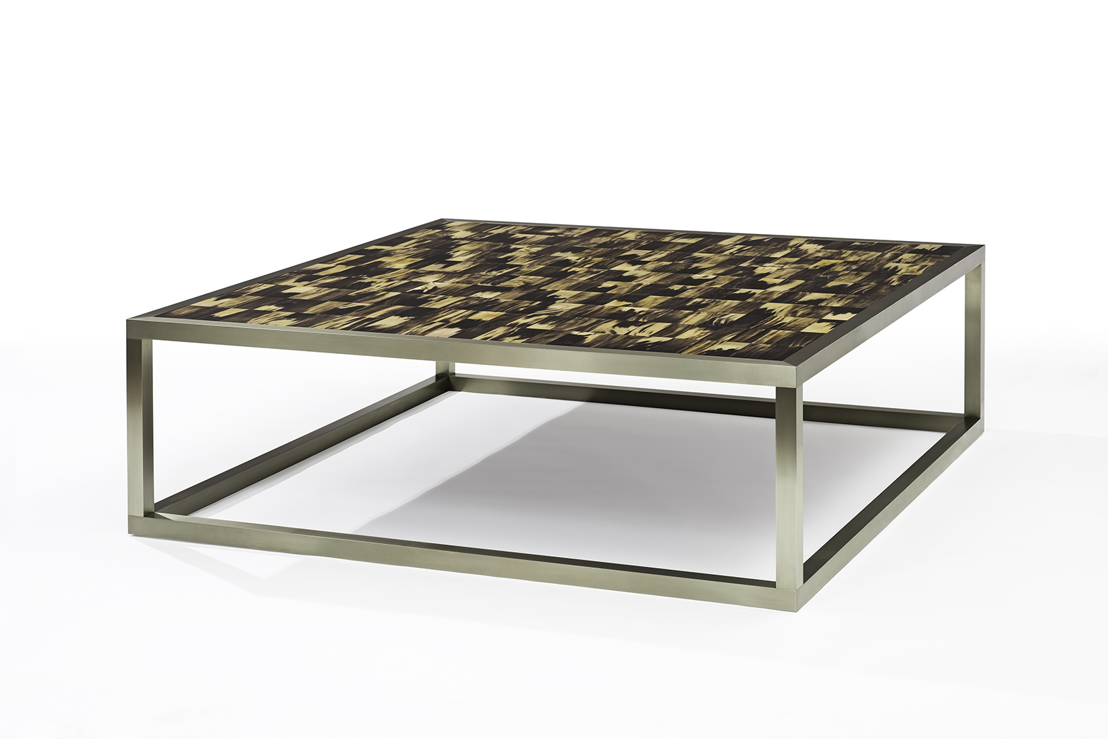 Coffee Table in Horn & German Silver