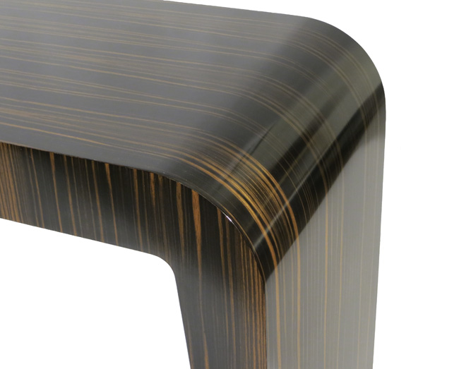 Incroyable Console In Macassar Ebony U0026 Blue Lacquer ...