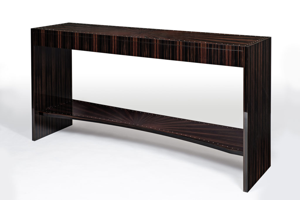 Console in Macassar Ebony & Mother of Pearl