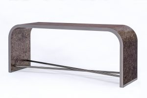 Lobby Console in Mica & Black Nickel
