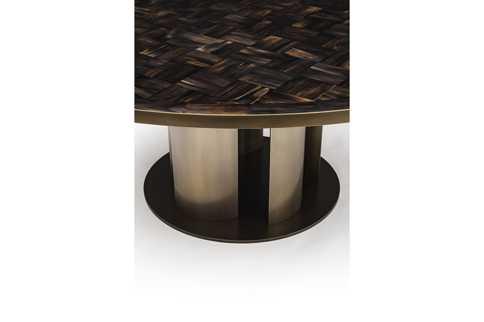 Dining Table in Horn & Bronze 3