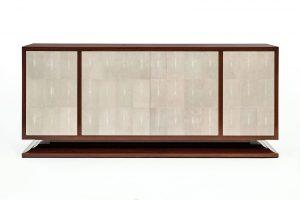 Dominique Inspired Sideboard in Narra Veneer & Shagreen