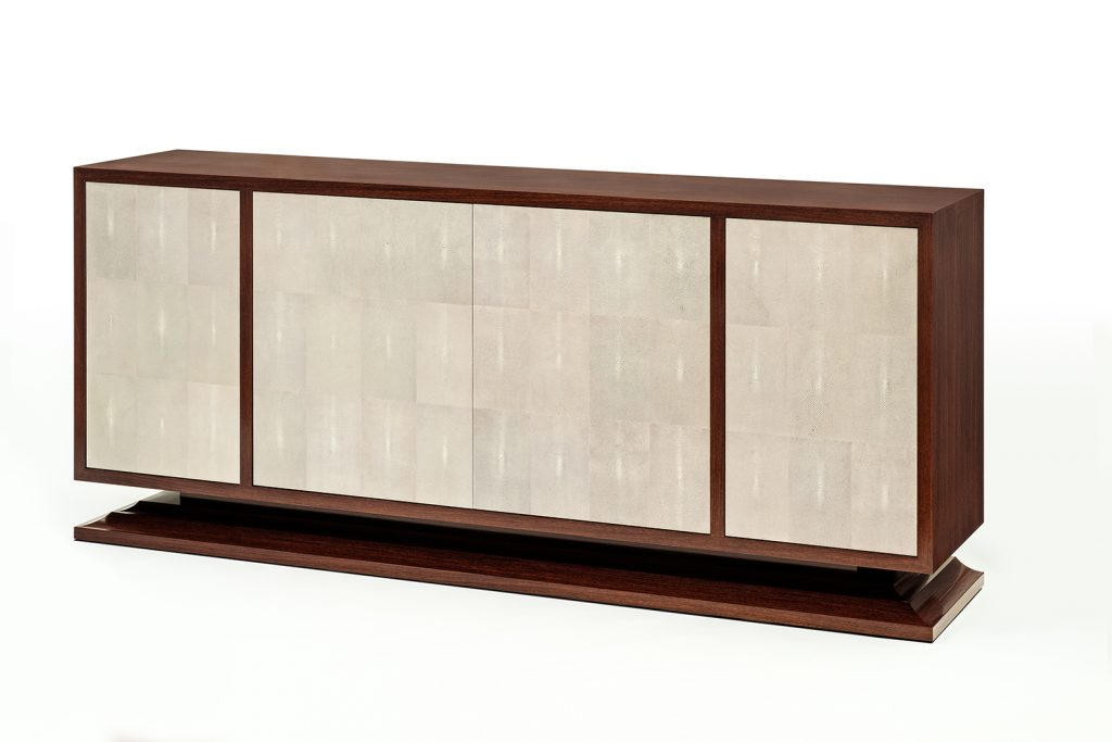 Dominique Inspired Sideboard in Narra & Shagreen