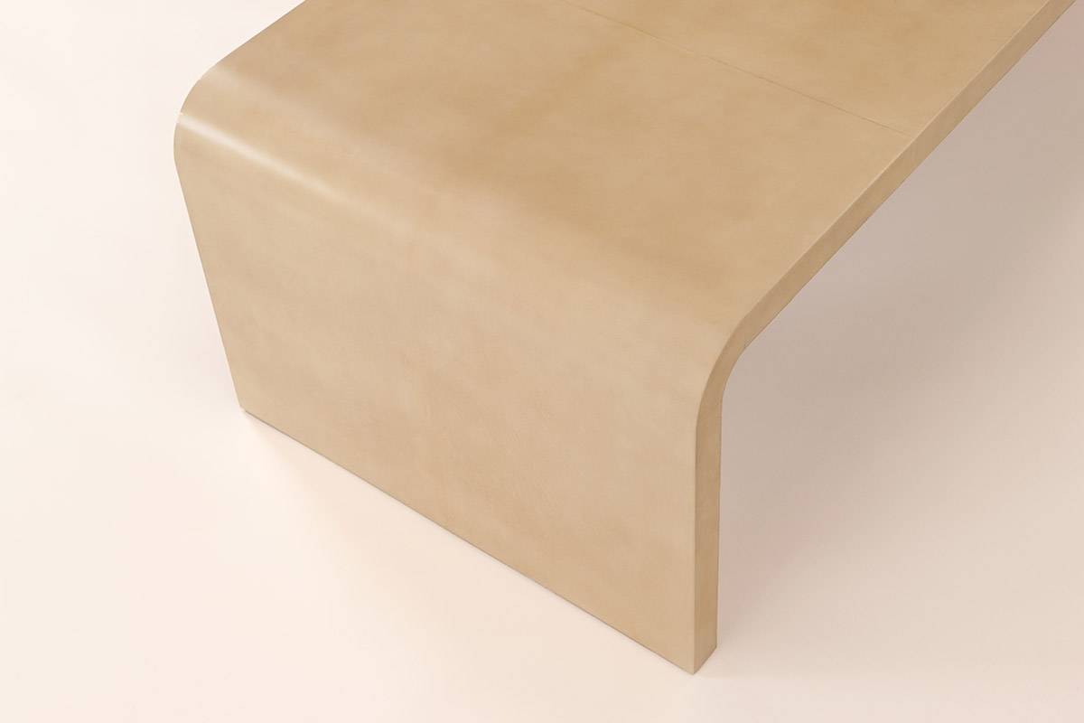 J.M. Frank Inspired Coffee Table in Parchment