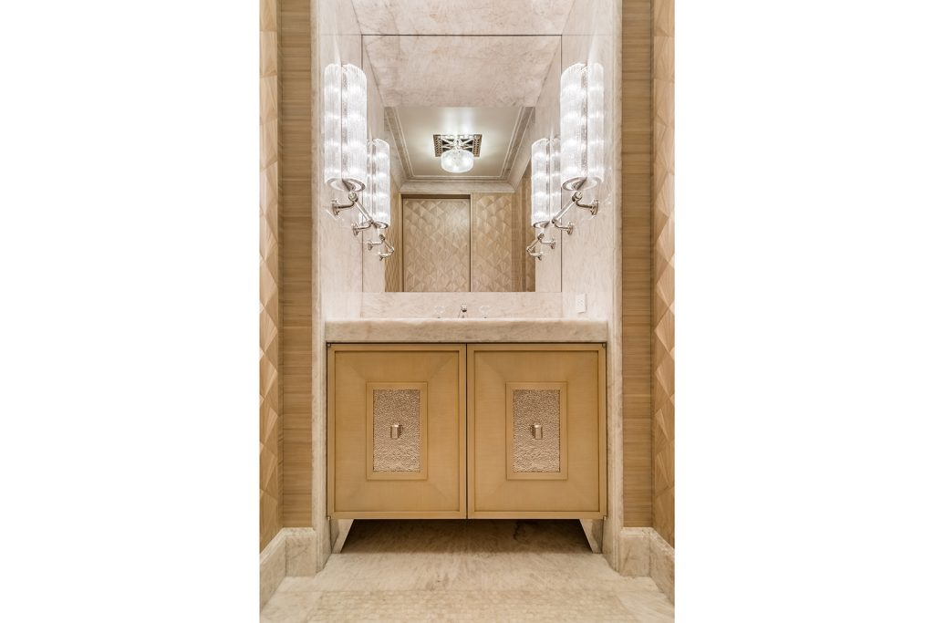 Powder Room in Straw Marquetry