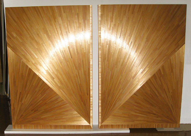 atelier viollet produces straw marquetry panelling for my quattroelle