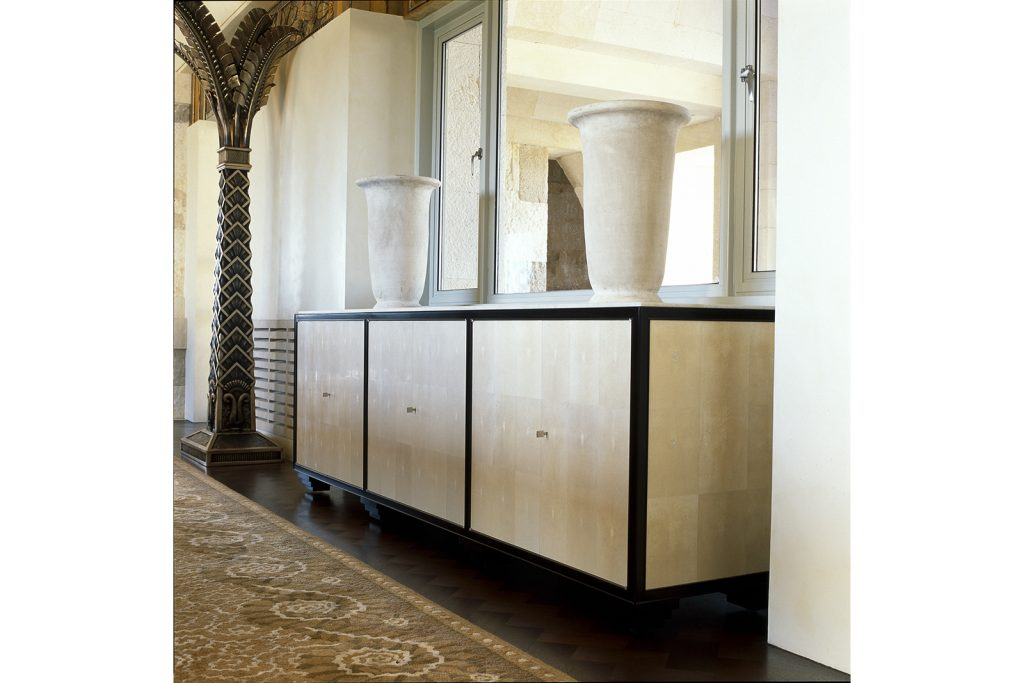 Sideboard In Shagreen And Macassar Ebony