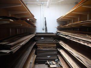 Inside the Wood Veneer Room…