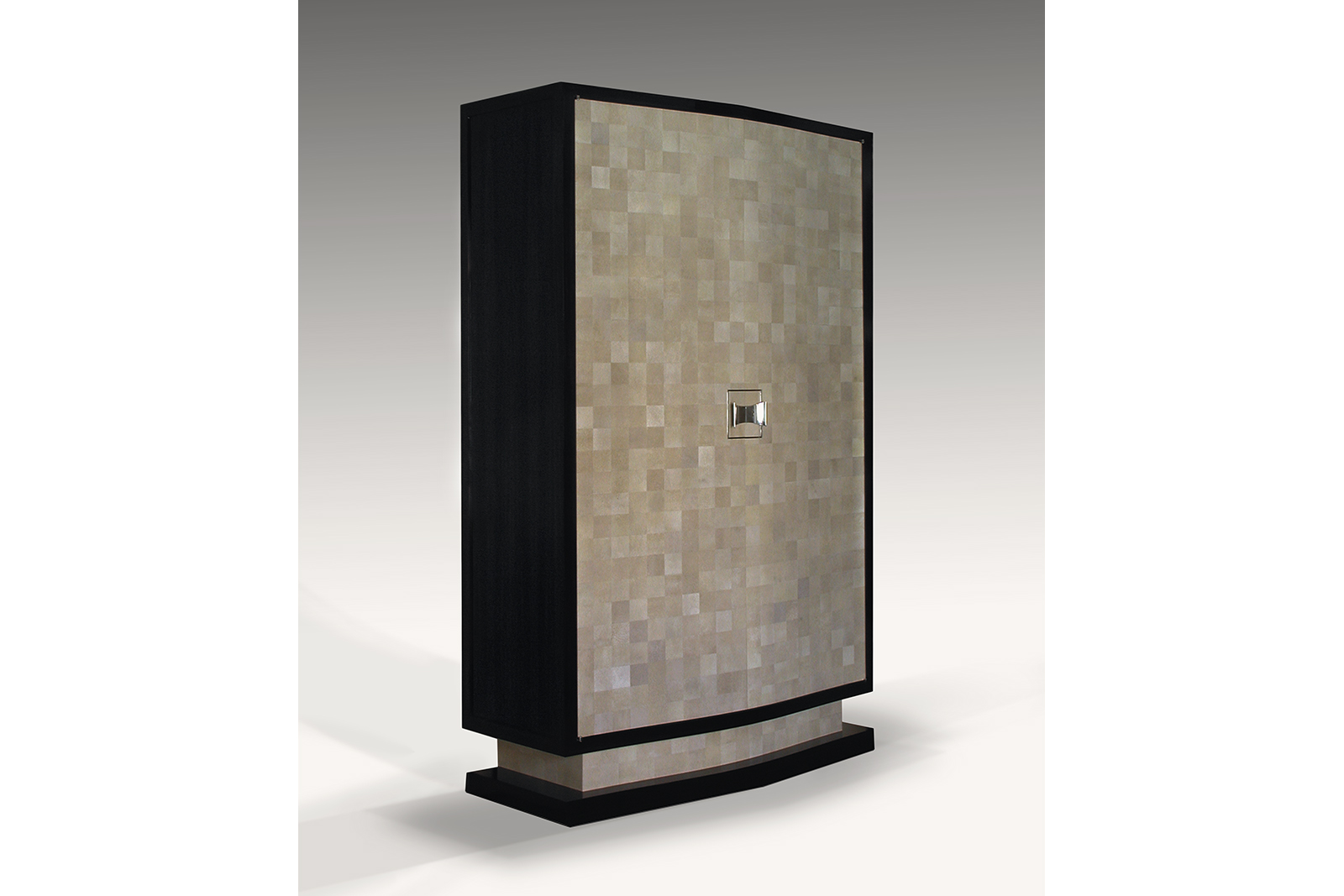 Armoire In Checkerboard Shagreen And Macassar Ebony