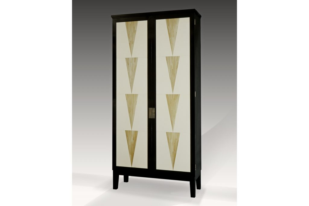 Armoire in Parchment & Straw Marquetry