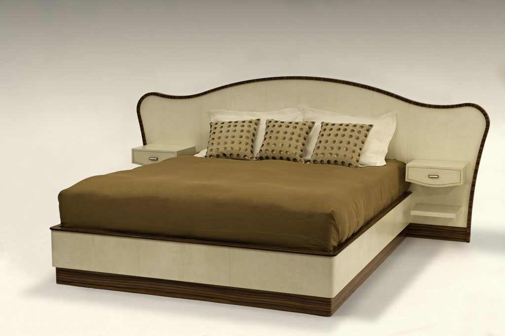 Seyssel Bed in Parchment & Rosewood