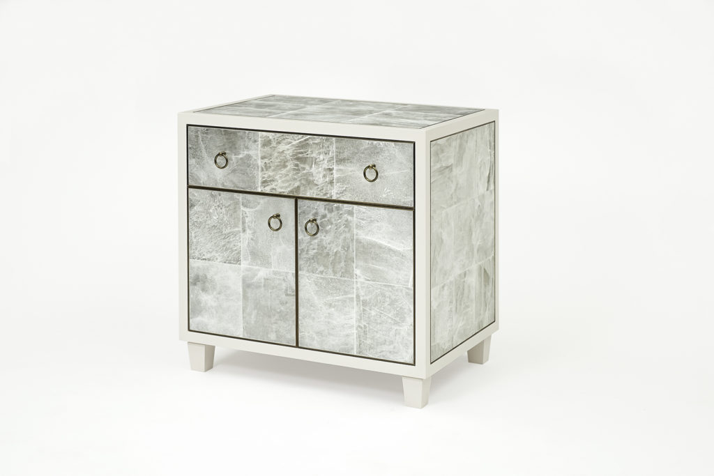Bedside Table in Gypsum & Lacquer