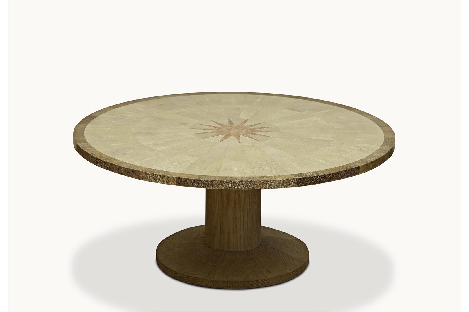Coffee Table In Shagreen & Oak