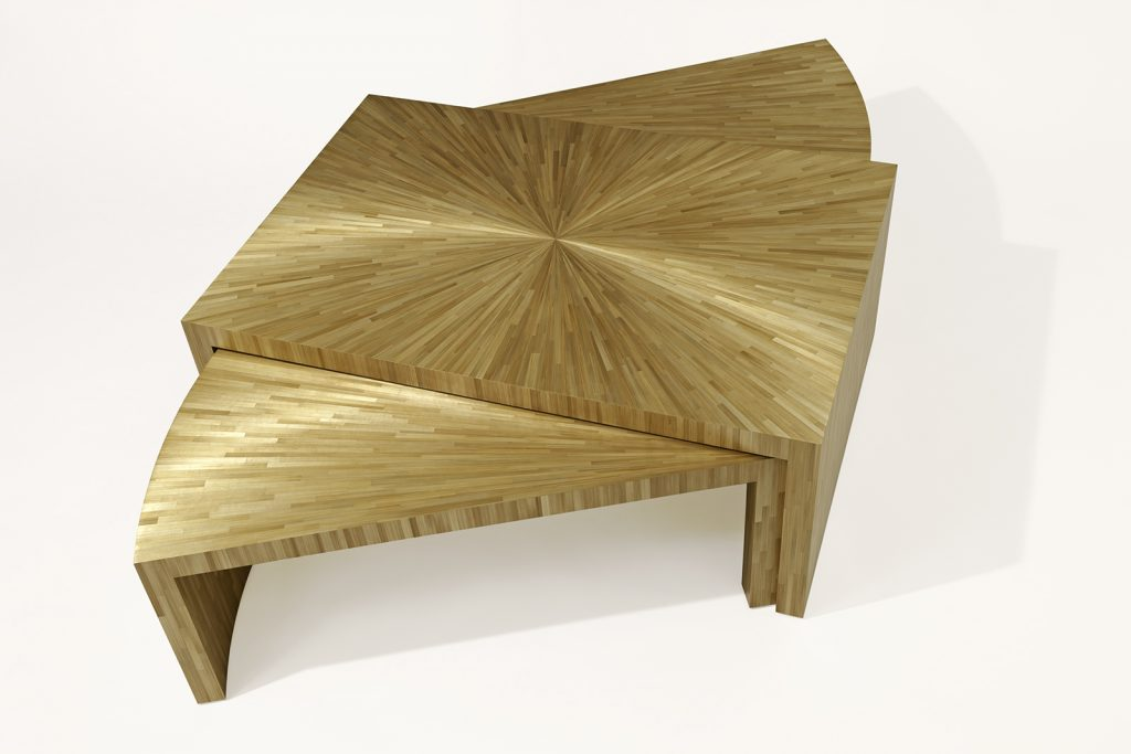 Coffee Table In Straw Marquetry