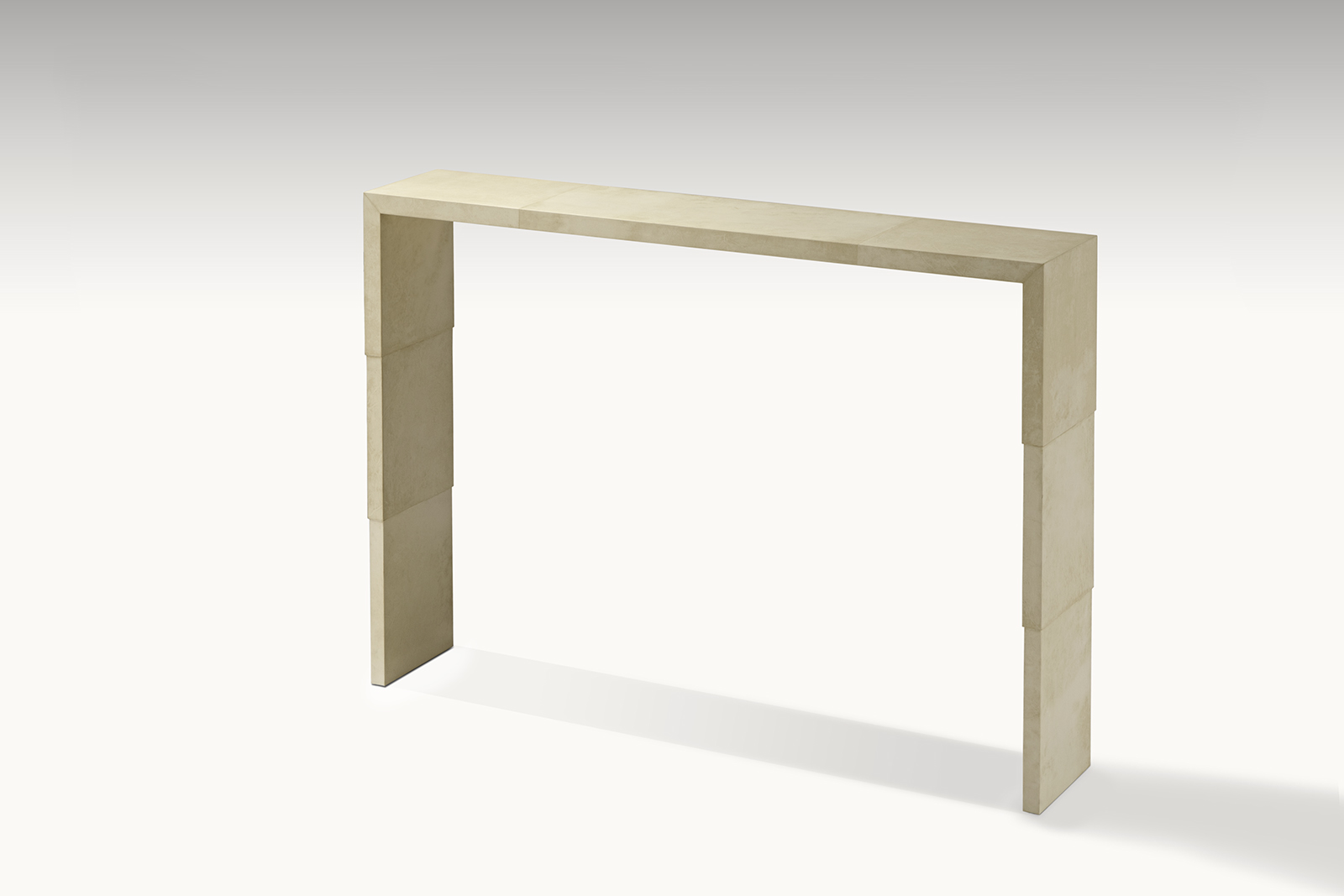 Console In Parchment With Stepped Sides