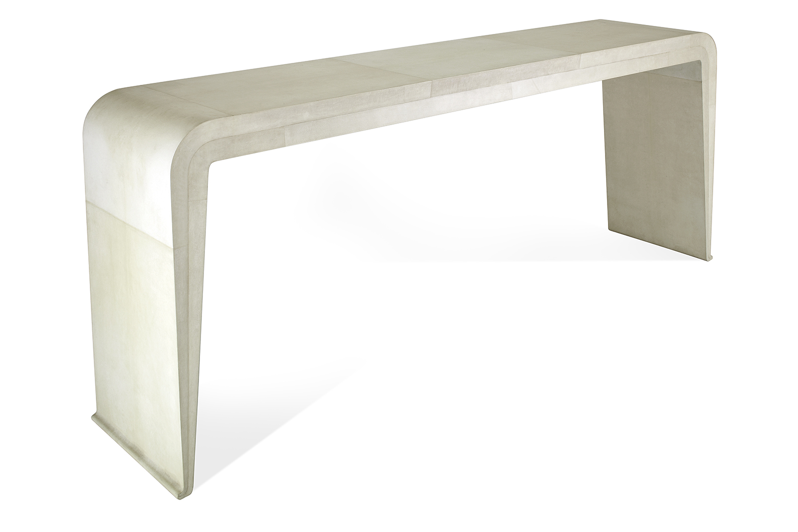 Console In Parchment With Tapered Sides