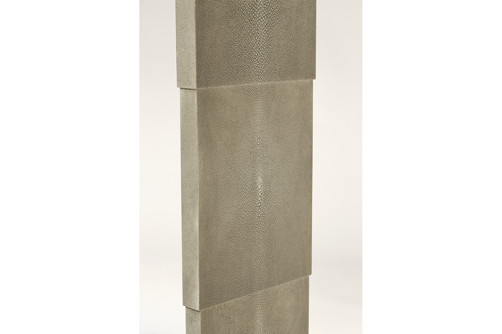 Console In Shagreen With Stepped Sides