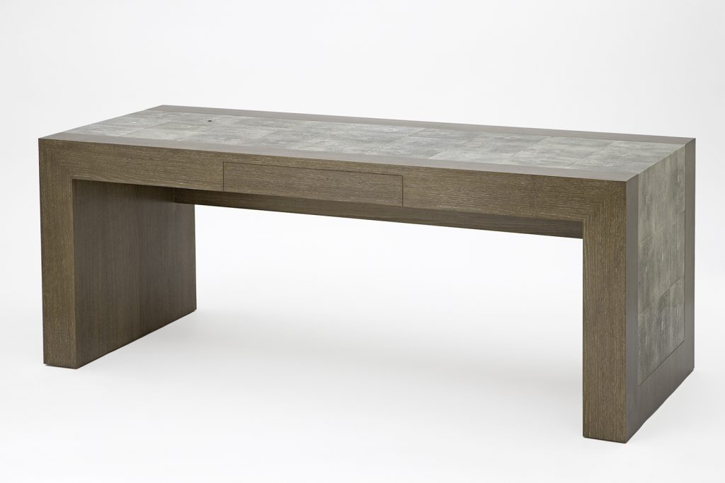 Desk in Dyed Shagreen & Oak