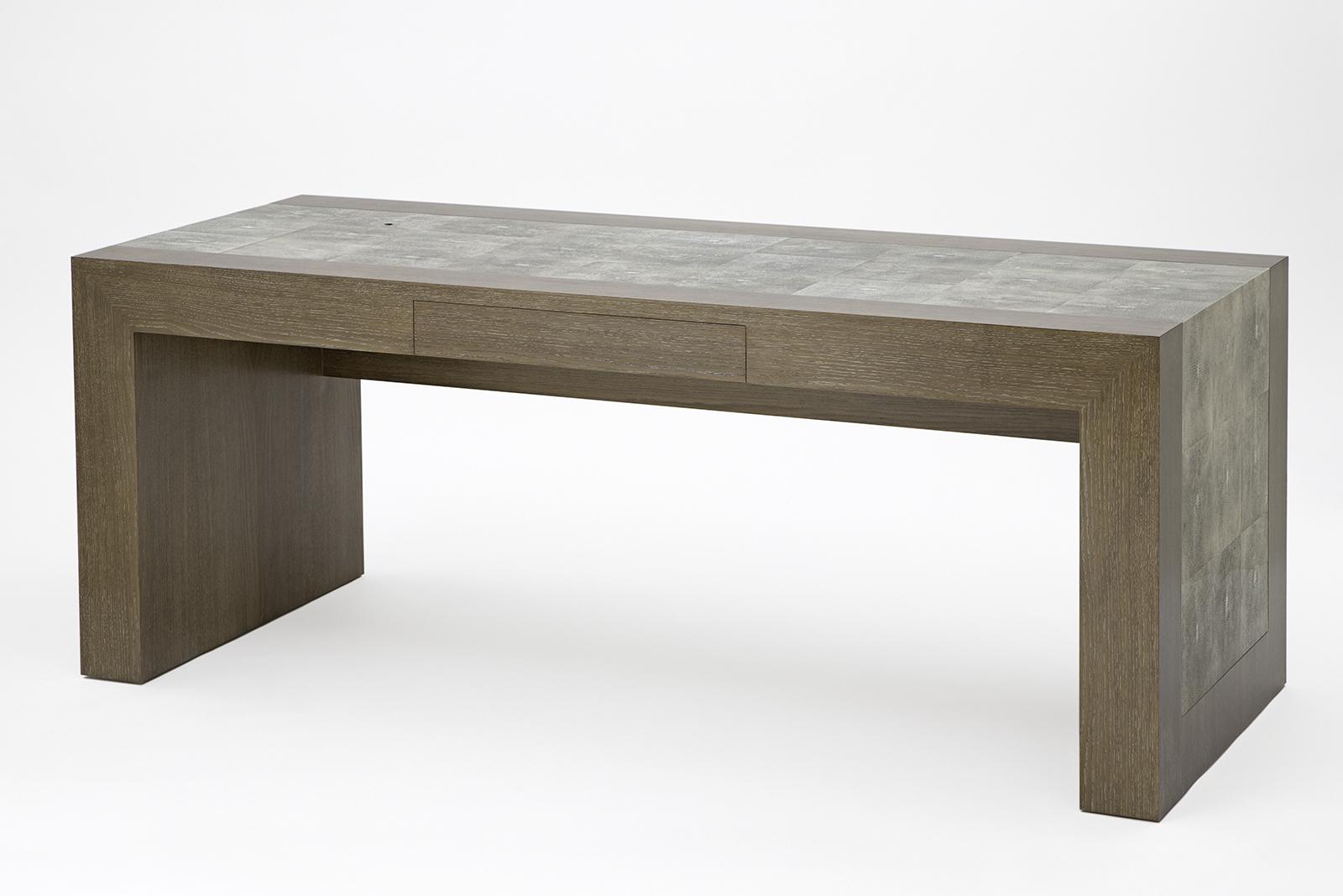 Desk In Dyed Shagreen & Oak