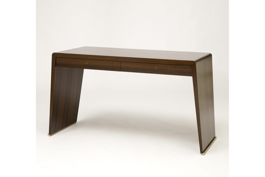 Desk In Rosewood & Bronze