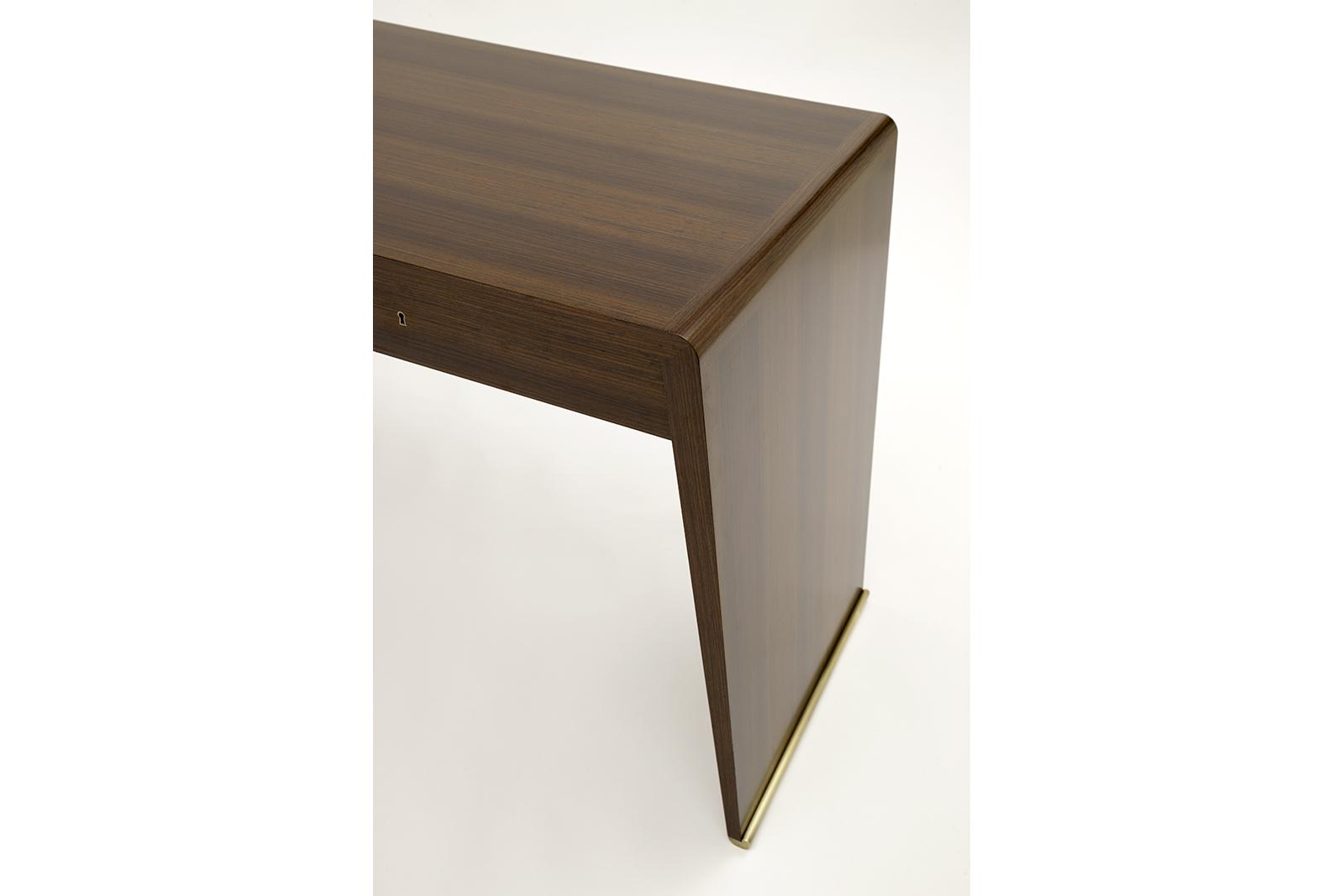 Desk In Rosewood & Bronze