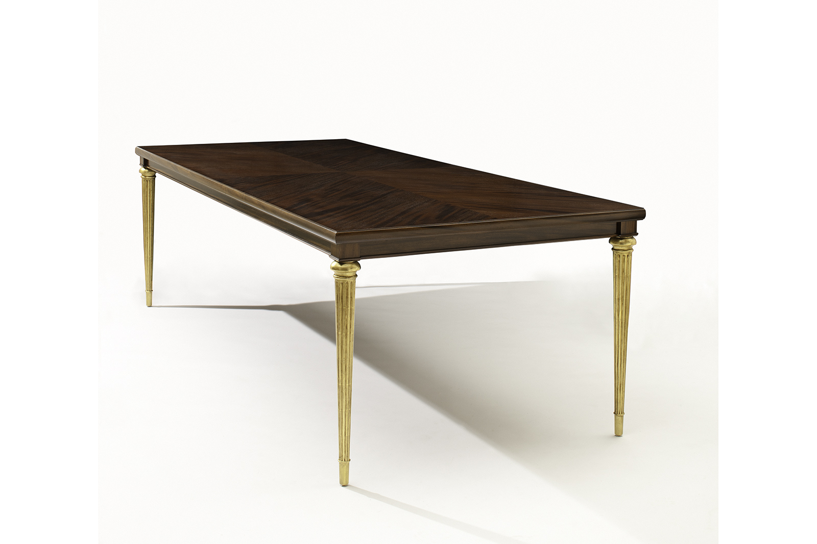 Dining Table In Seagrass Mahogany & Gold Leaf