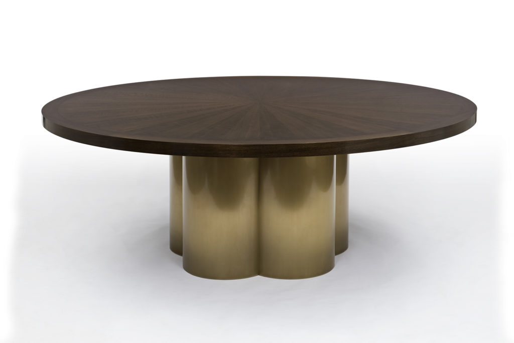 Dining Table in Walnut & Bronze