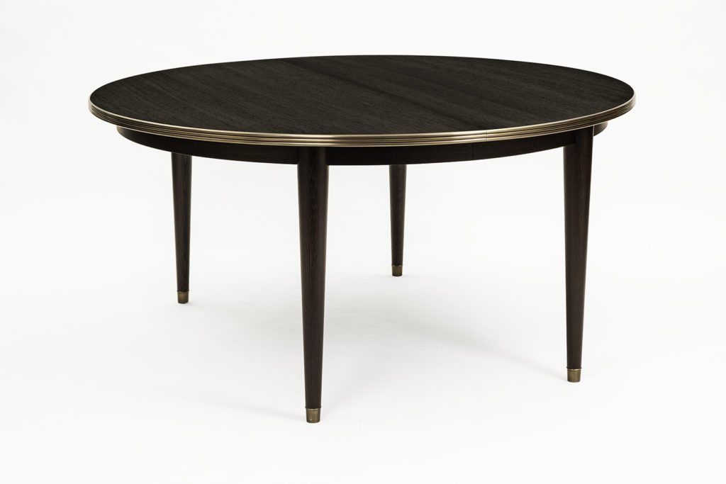 Dining Table In Wenge & Bronze
