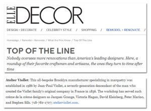 Atelier Viollet Featured In Elle Decor