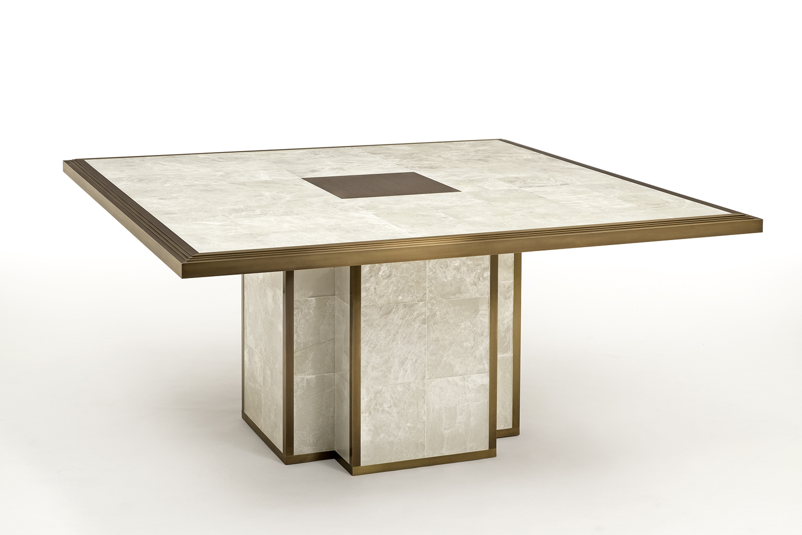 entry table in gypsum & bronze