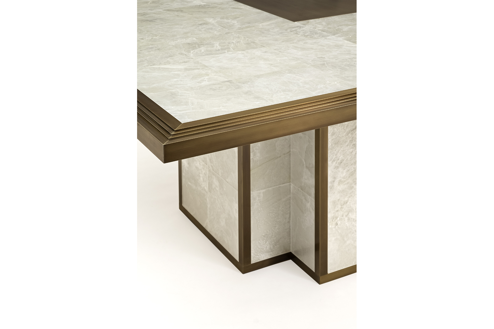 entry table in gypsum & bronze 2