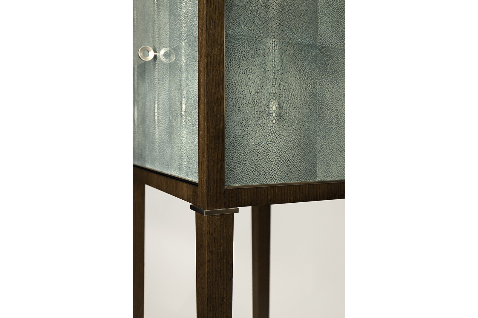 High Cabinets In Shagreen & Walnut