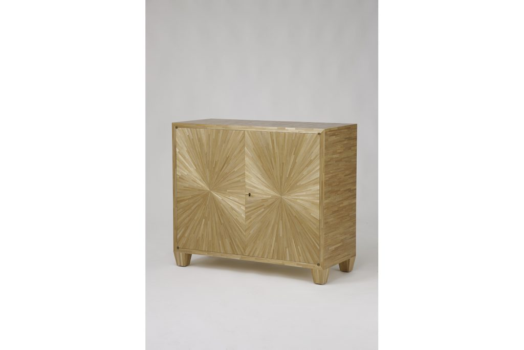 J.M.F Inspired Cabinet in Straw Marquetry