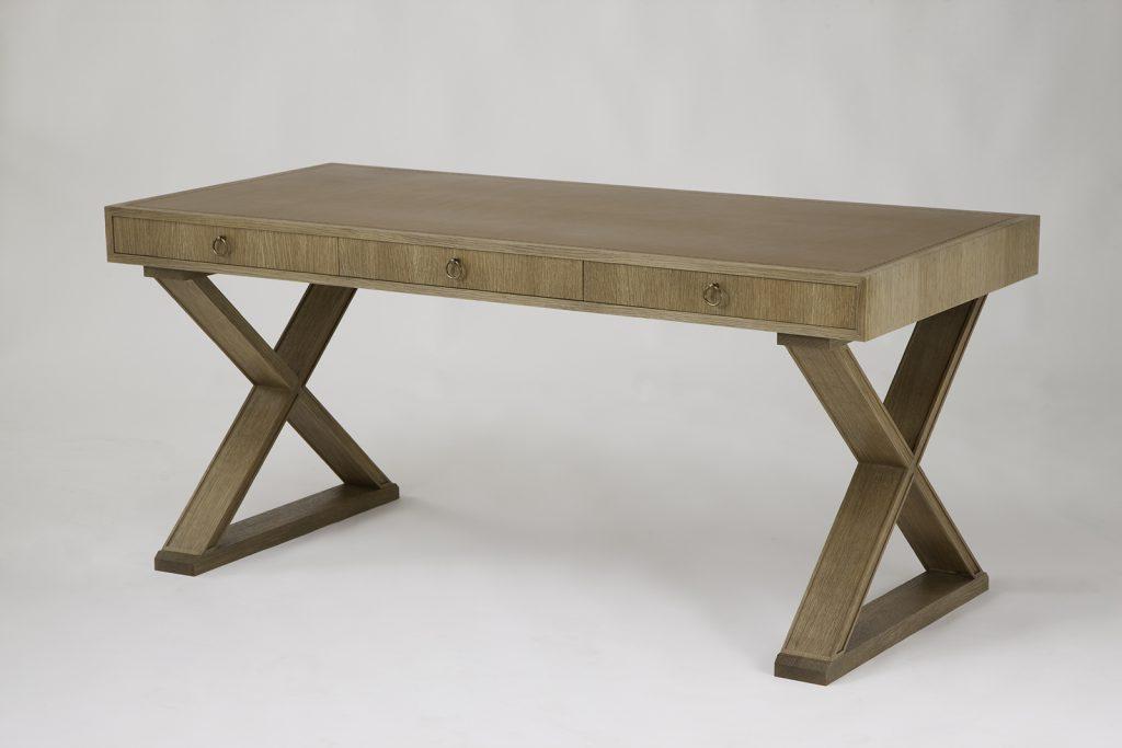 J.M.F Inspired Desk in Oak & Leather