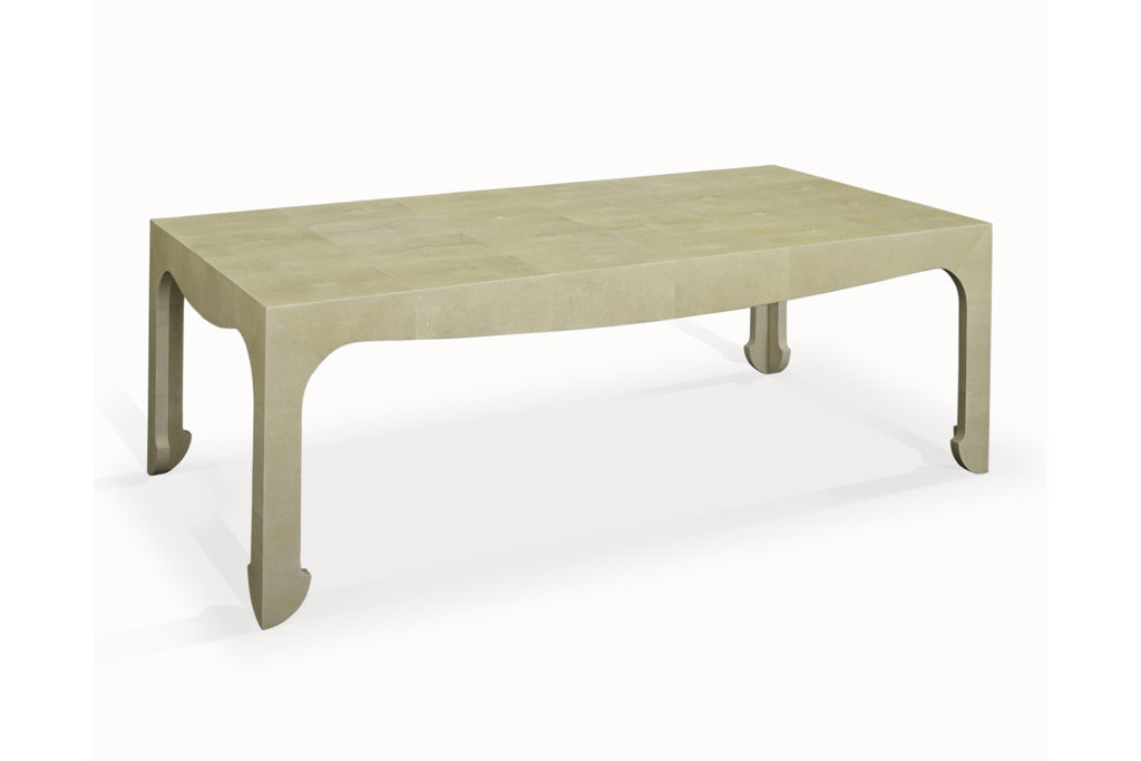 j.m. frank inspired low table in shagreen