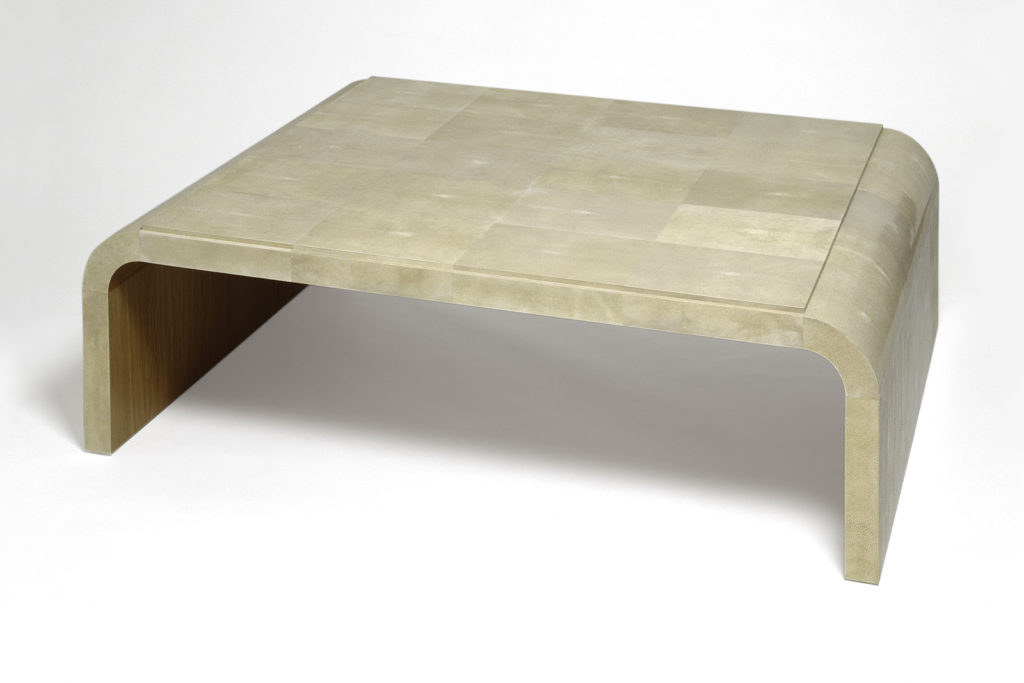 J.m. Frank Inspired Low Table In Shagreen & Oak