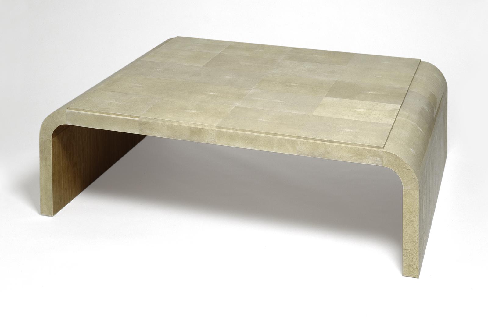 J.m. Frank Inspired Low Table In Shagreen & Oak