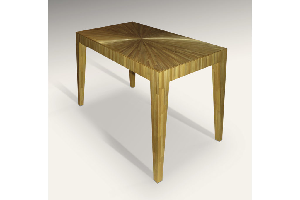J.M.F Inspired Rectangular Table in Straw Marquetry