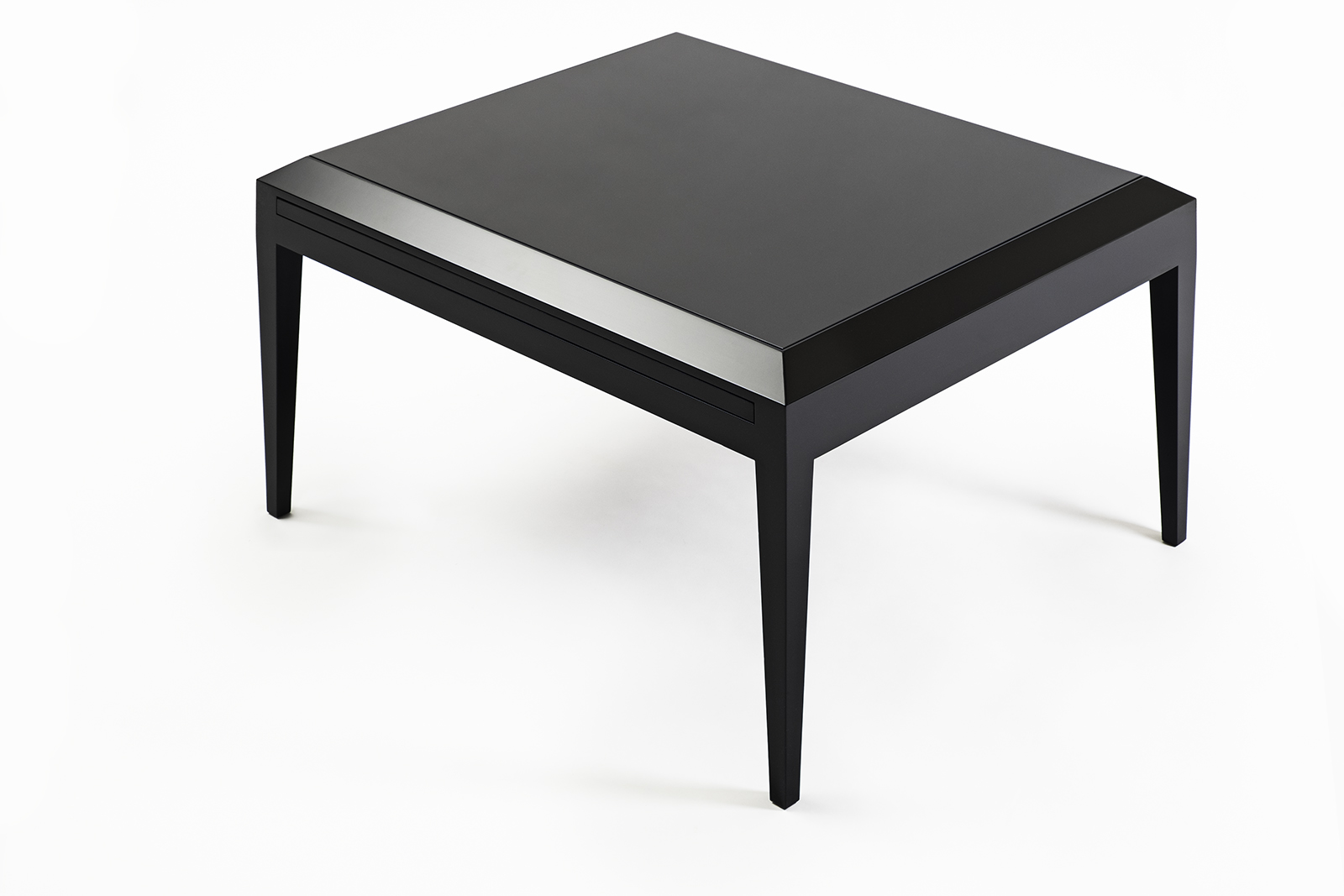 jean dunand inspired black lacquer coffee table