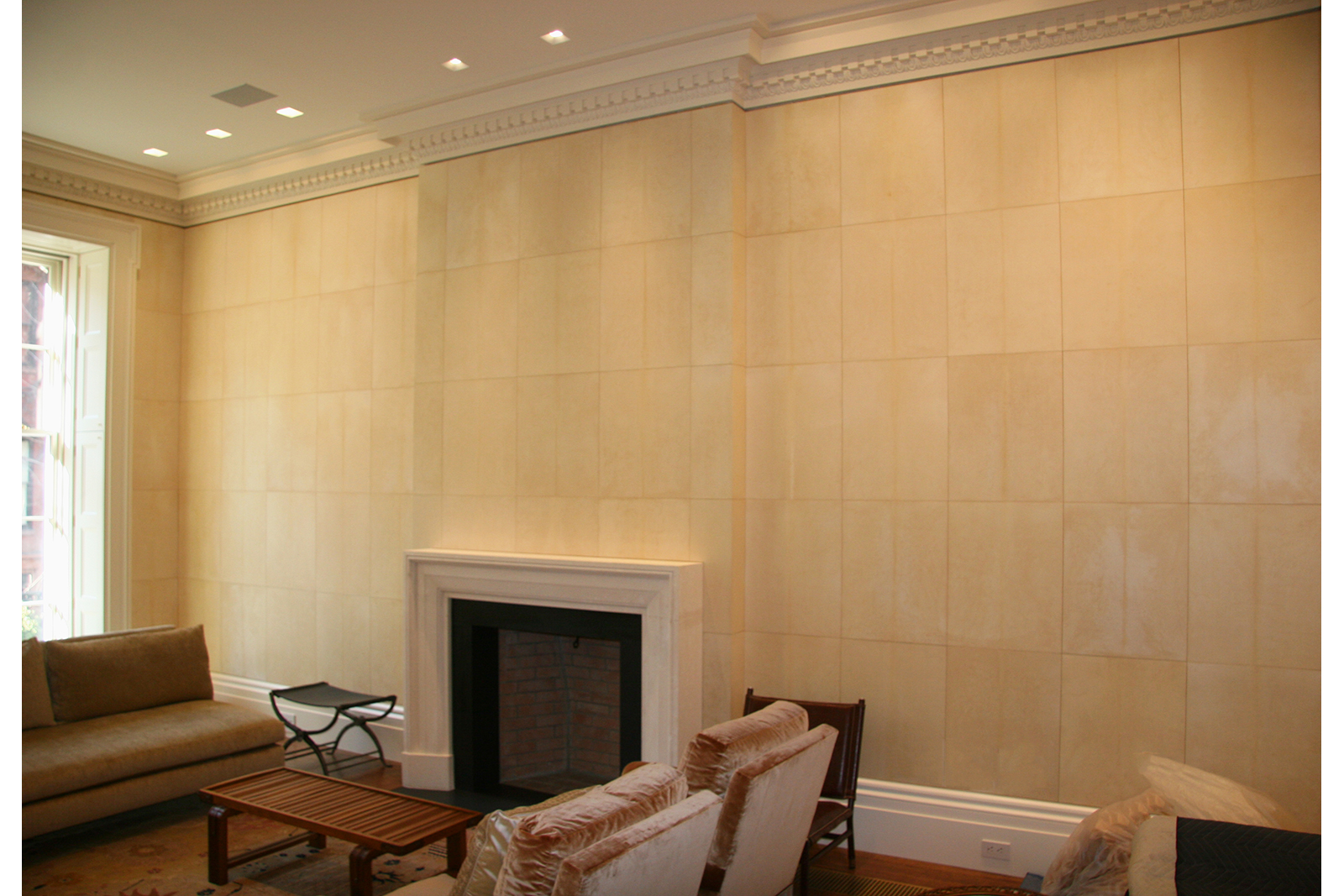 Living Room with Sheep Skin Parchment