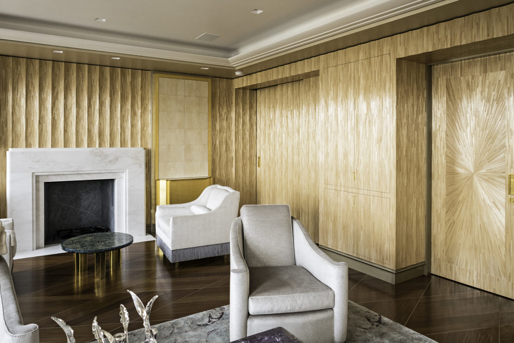 Master Sitting Room in Straw Marquetry