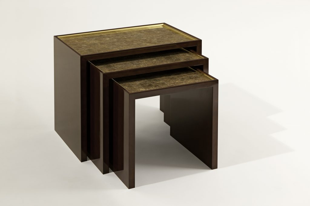 Nesting Tables in Mica & Lacquer