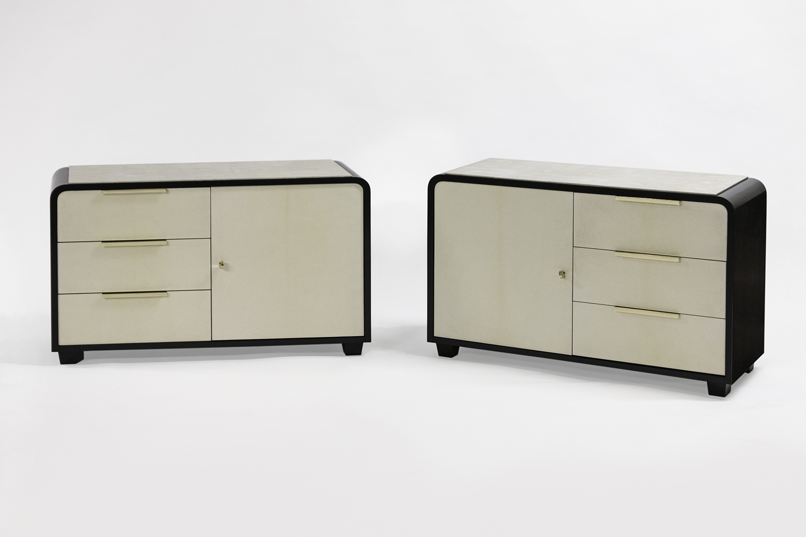 Night Stands In Parchment & Shagreen