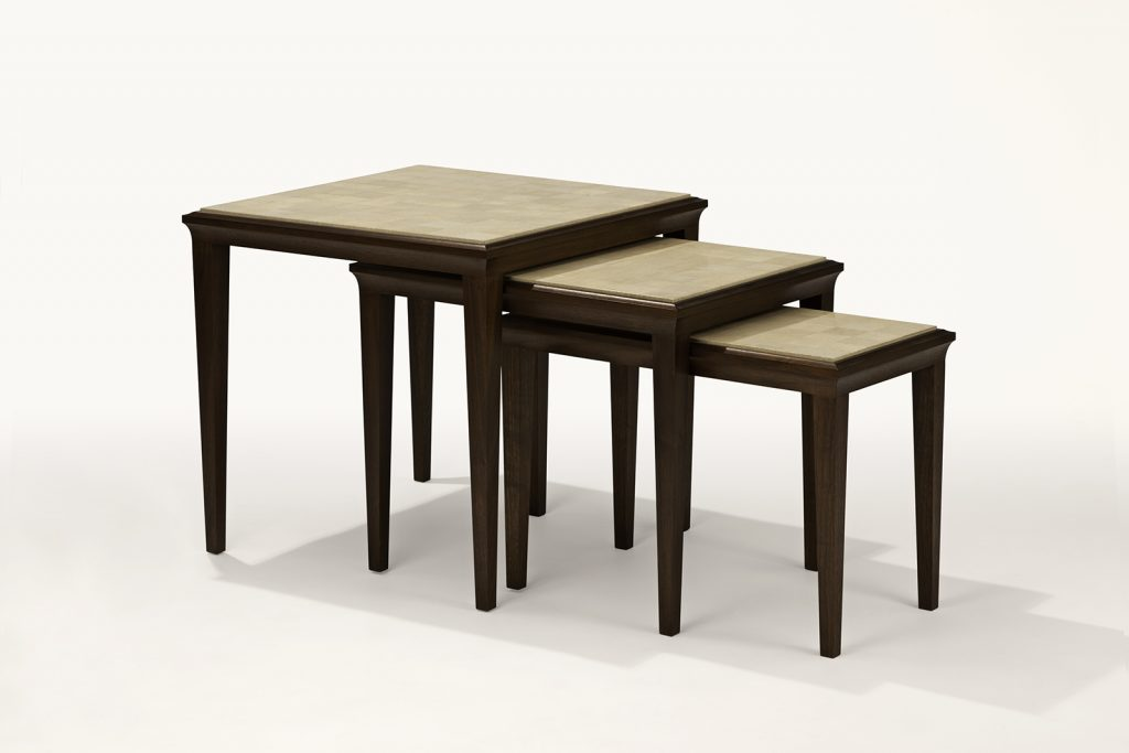 Set of Nesting Tables with Shagreen Tops