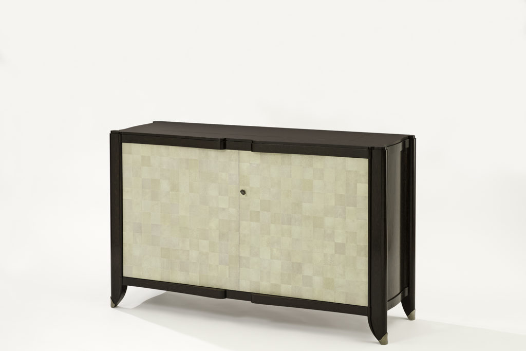 Shagreen & Palmwood TV Lift Cabinet