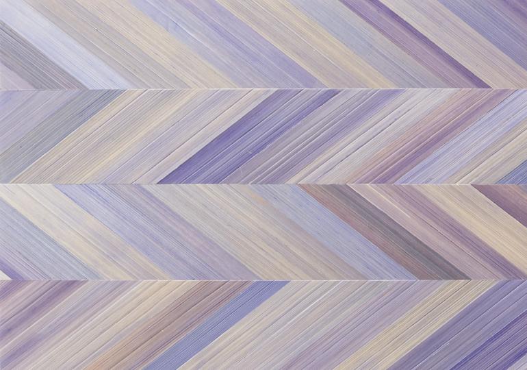 Straw Marquetry Lavender Harringbone