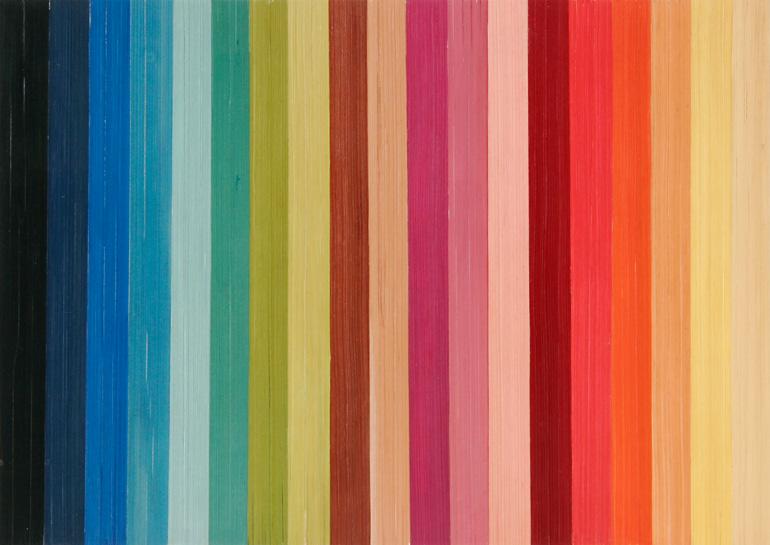 Straw Marquetry Multicolor